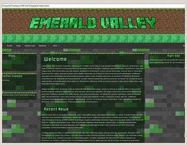 Design a basic HTML website template for my Minecraft Server