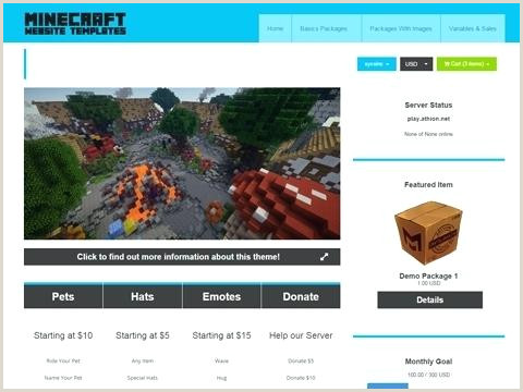Minecraft Website Templates Web Template Related Products Website Free Download