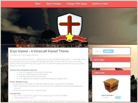 Minecraft Website Templates Your Host Free Website Template Templates Hosting Web