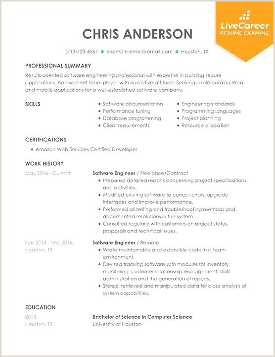 Mobile Application Developer Resume Fresh software Resume Samples and software Engineer Sample