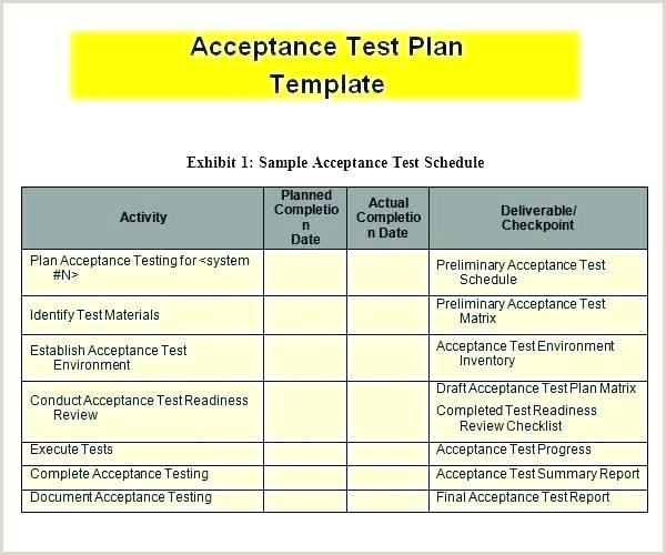 test case document template xls