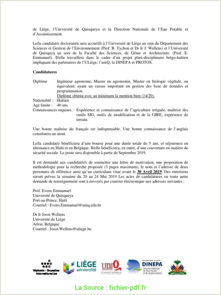 Modele De Cv Haitien Exemple Lettre Remerciement ...
