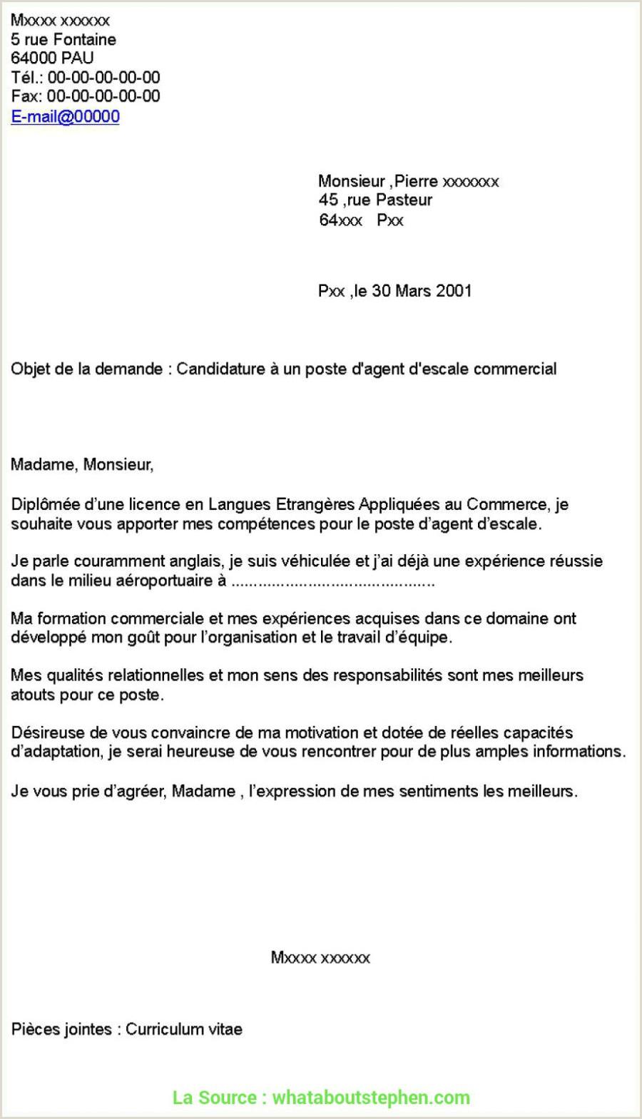Modele De Cv Hotesse Daccueil Standardiste Avancée Lettre De Motivation Pour Le Poste D Hotesse D