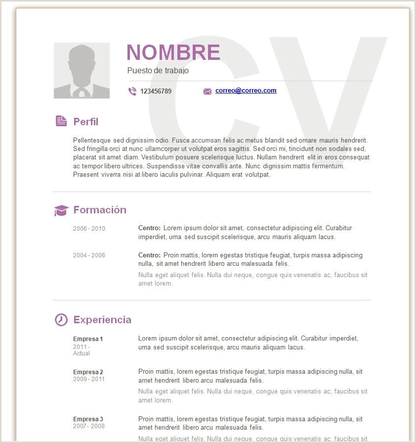 Modelo De Curriculum Vitae Moderno Gratis Modelo De