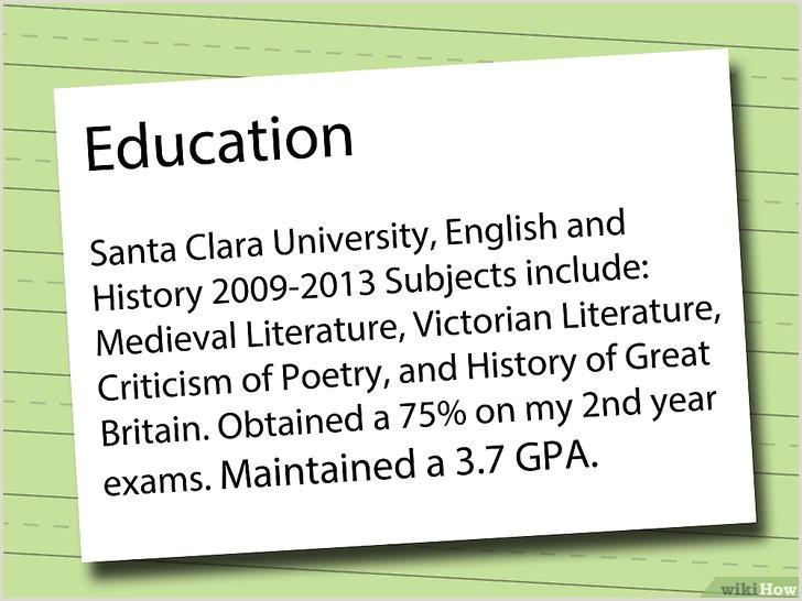 Modelo De Curriculum Vitae Para Rellenar E Imprimir 3 formas De Hacer Un Currculum Vtae Wikihow