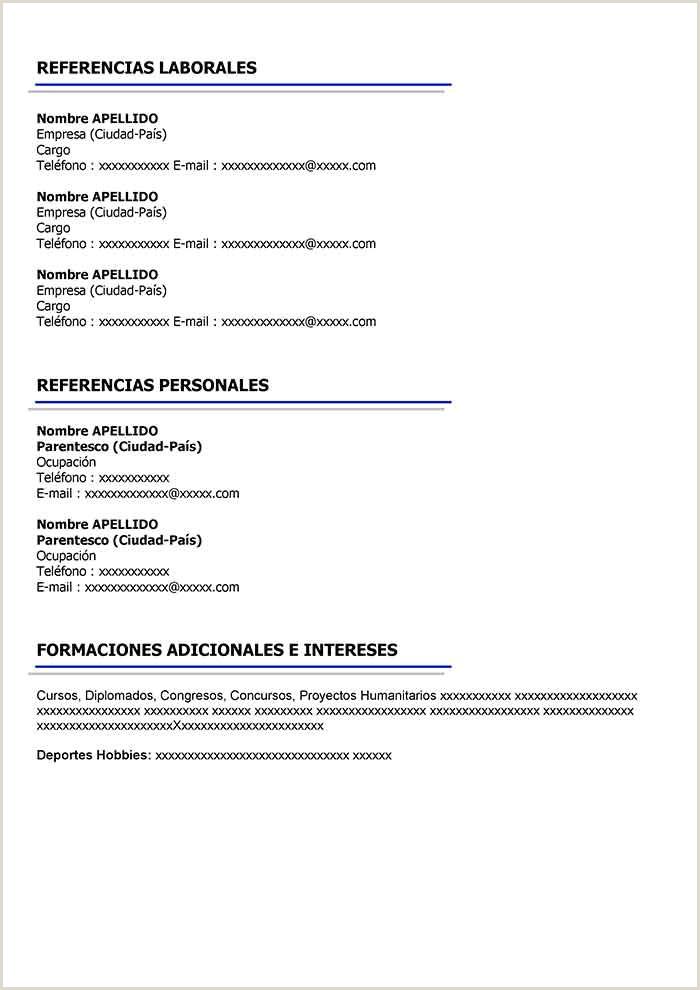 Modelo De Hoja De Vida 2019 Word Curriculum Vitae Ejemplos Word andoneianstern