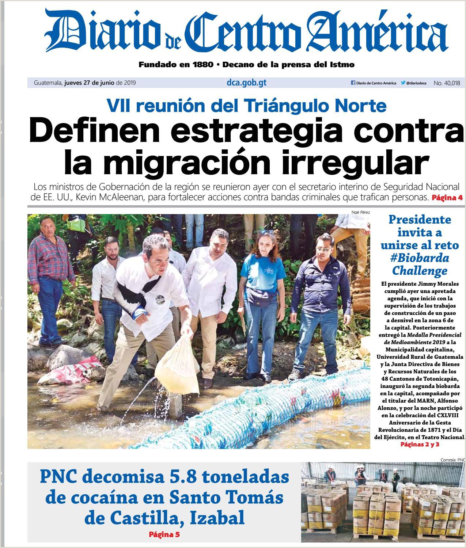 Edici³n del Diario de Centro América del jueves 27 de junio