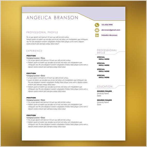Retail Management curriculum Plantilla CV pºrpura 4 piezas Descargar curriculum vitae moderno Plantilla de Microsoft Word