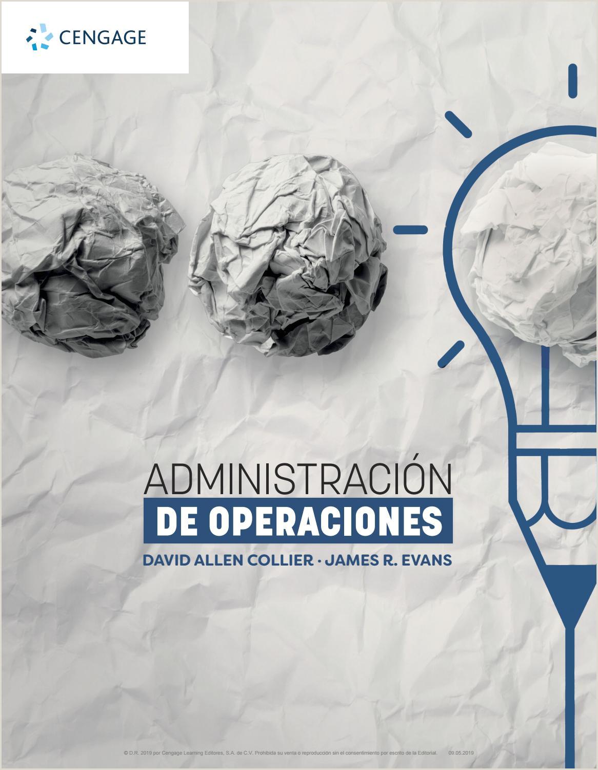 Modelos Actuales De Hoja De Vida 2019 Administraci³n De Operaciones by Cengage Learning Editores