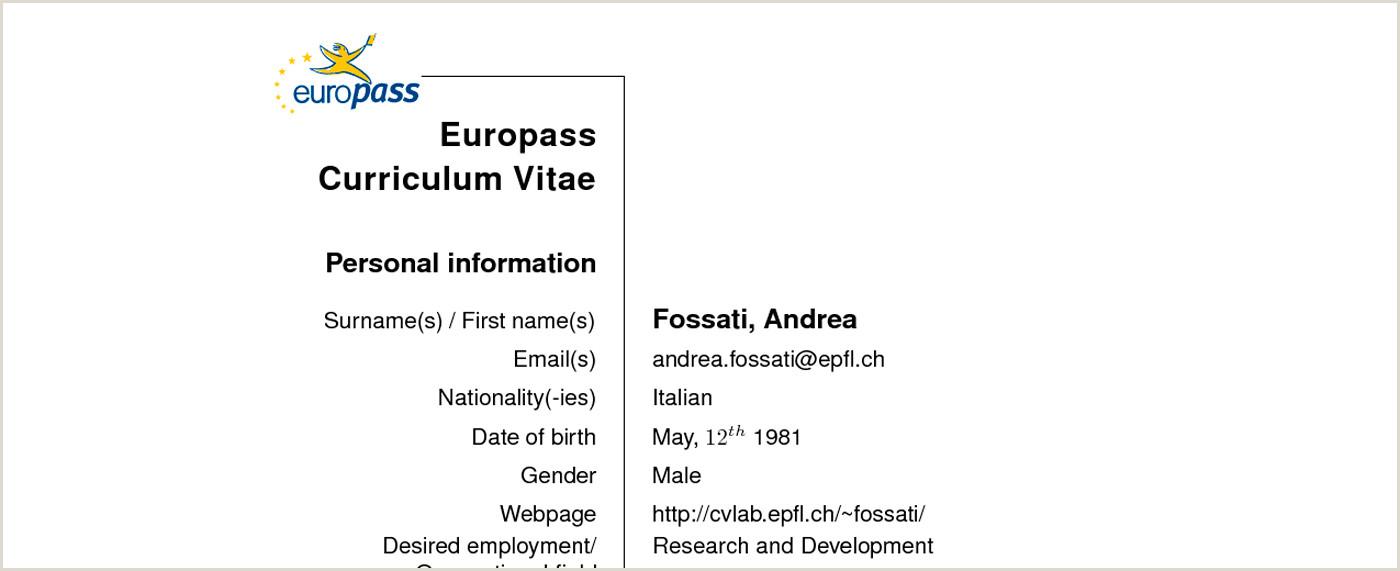 By Congress Curriculum Vitae Europass Plantilla Word