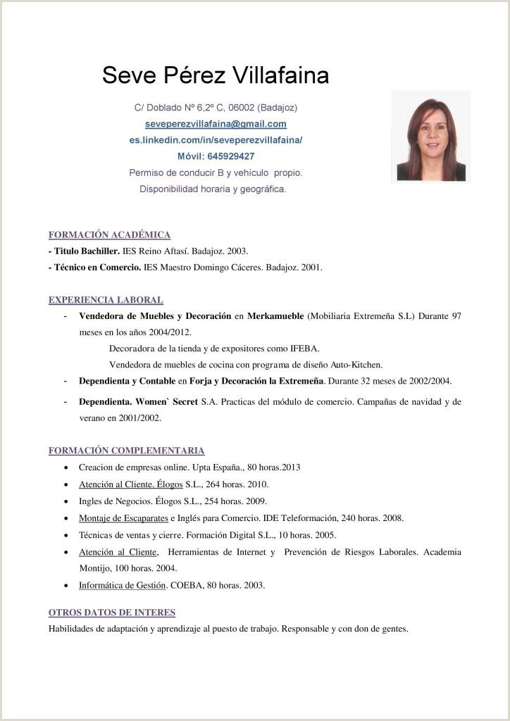 Modelos De Curriculum Vitae Para Rellenar Basico Modelos Y Elaboraci³n Currculum Vitae