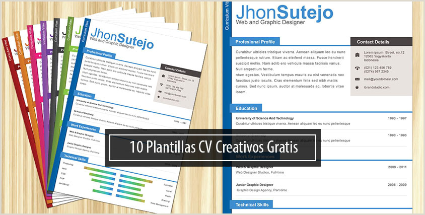 Modelos De Curriculum Vitae Para Rellenar Descargar Las 10 Mejores Plantillas Gratis Para Curriculums Creativos