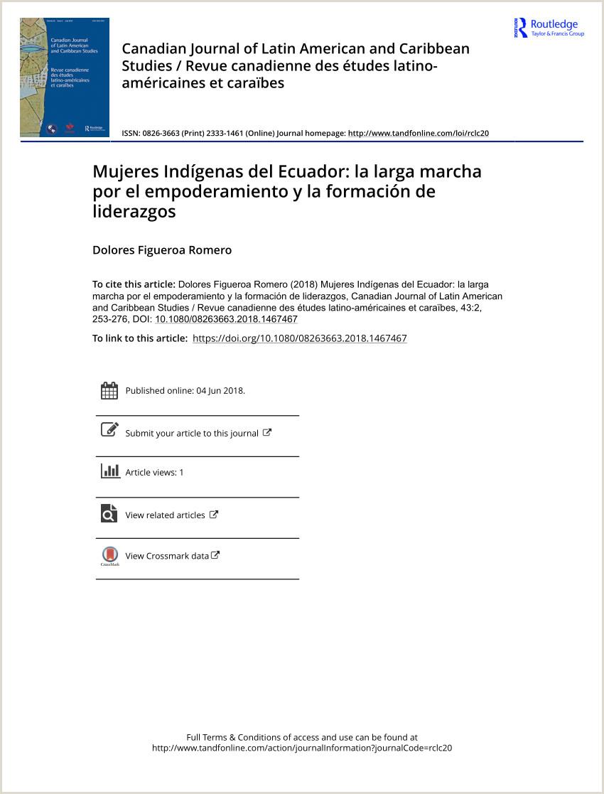PDF Mujeres Indgenas del Ecuador la larga marcha por el