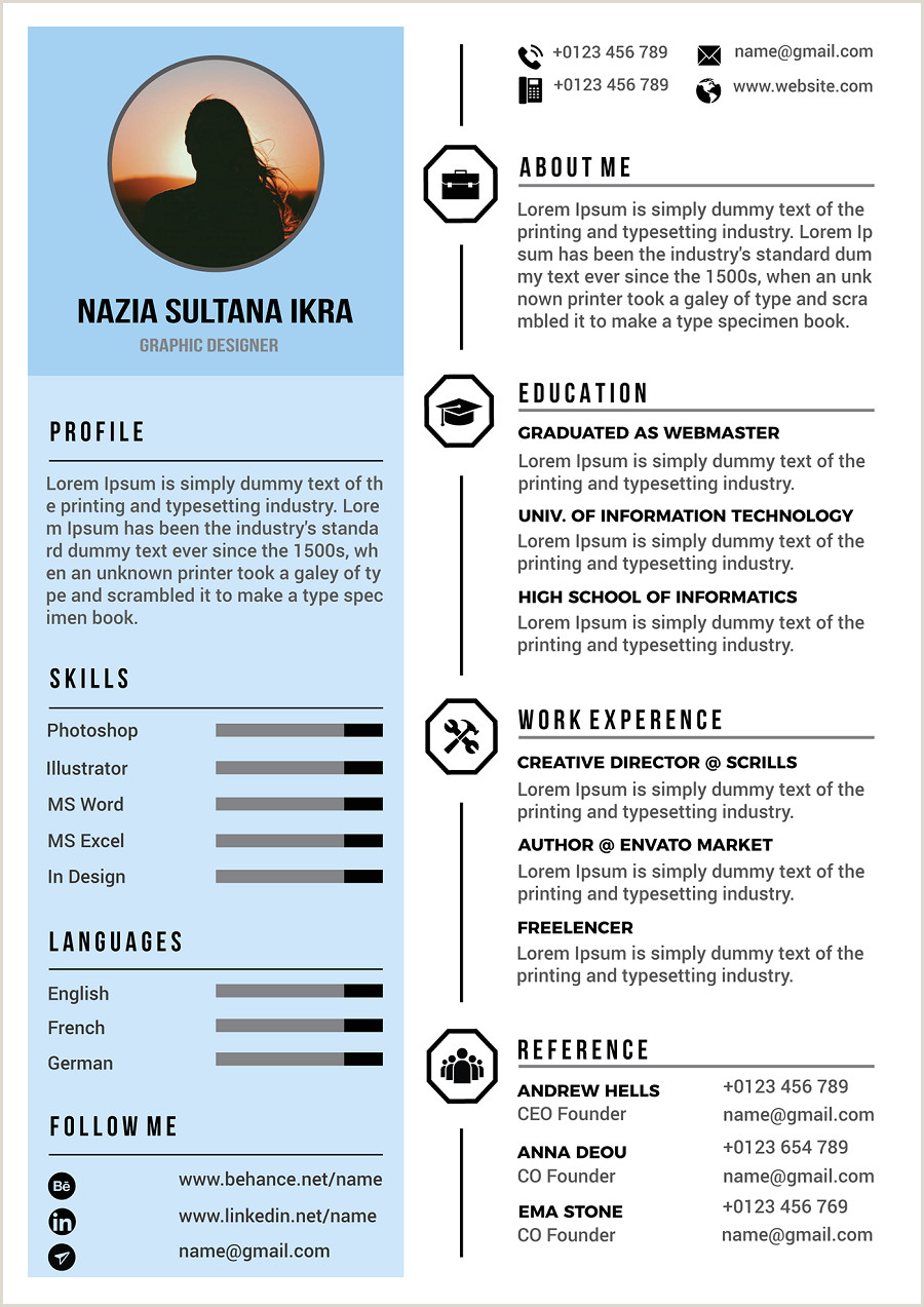 34 Best Modern Design Resume Templates SimpleFreeThemes