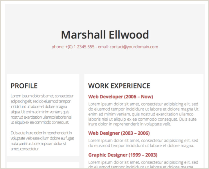 Modern Cv Example Free 50 Free Microsoft Word Resume Templates Updated August 2019