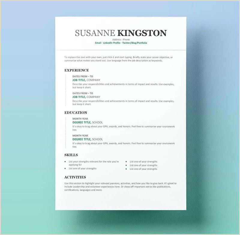 Related Post Modern Template Free Resume Templates For Word
