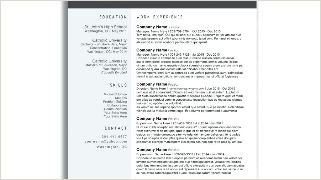 Free Modern Resume Cv Template Templates Download Psd Doc