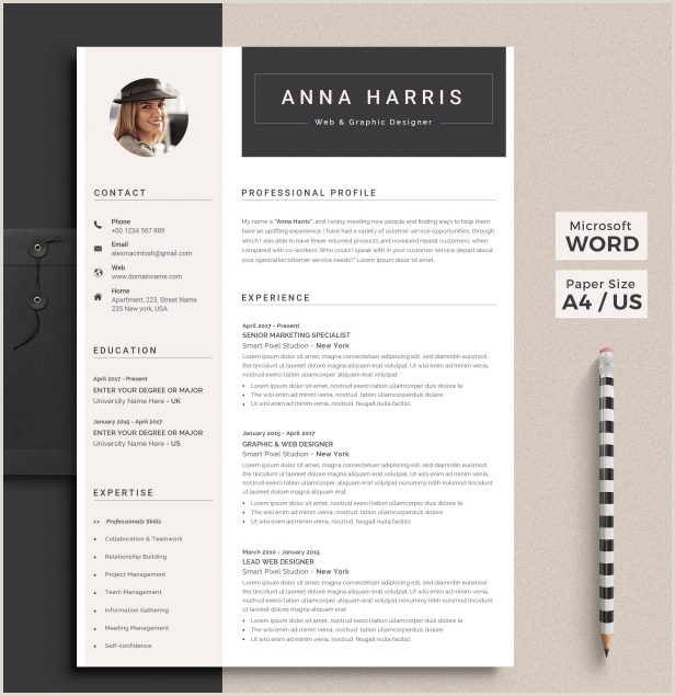 Template creative resume template word Resume Template