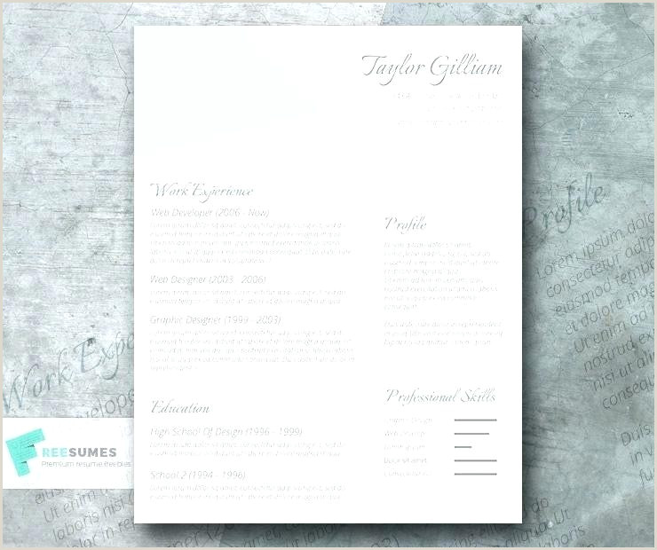 Luxury Cv Template Word Free For Clean Resume Template Word