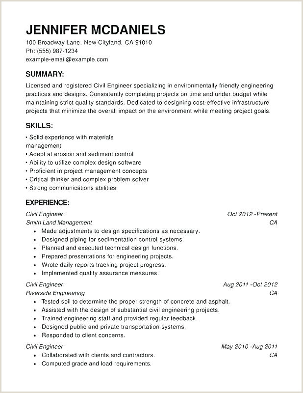 Modern Cv format for Civil Engineer Resume Template for Civil Engineers – Highendflavors
