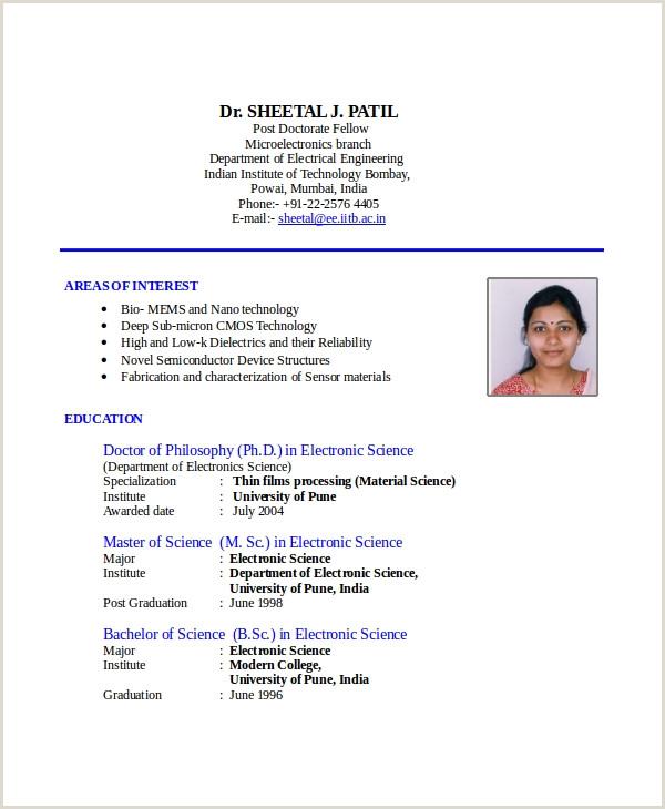 Modern Cv format for Engineers Cv format In Indian Style Resume Maker