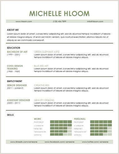 Skilful Free Resume Template by Hloom