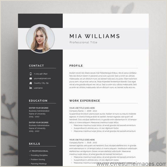 Modern Cv format In Ms Word Modern Resume Template 4 Page Cv