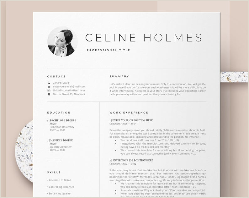 Creative Resume Templates Instant Download Etsy Professional Cv Design Cover Letter and Resume Template Simple Resume