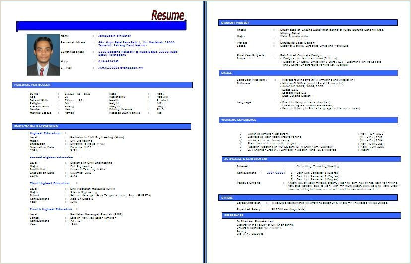Resume Format Kerajaan Resume
