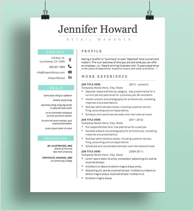 Resume Template CV Template Cover Letter Modern Resume Designs Mac or PC