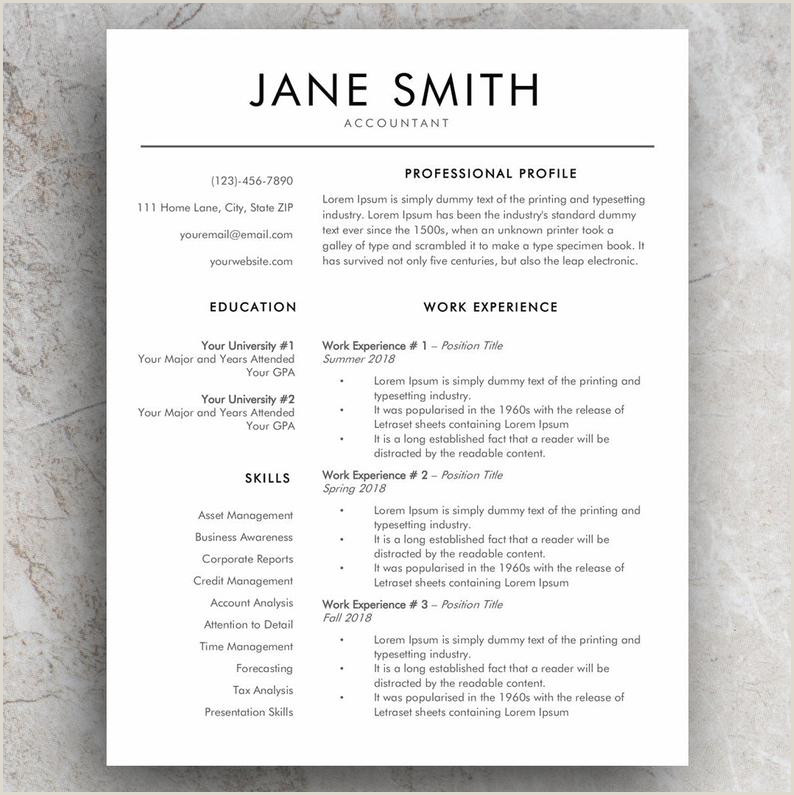 Word Resume Template and Modern CV Template Simple Cover Letter Templates