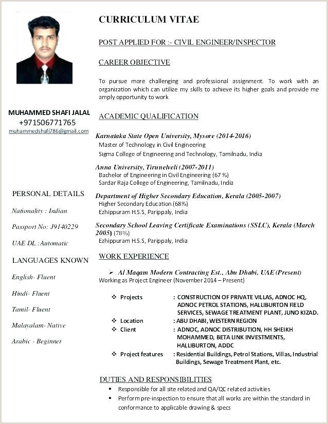 Modern Cv format India Civil Engineering Resume formats – Emelcotest