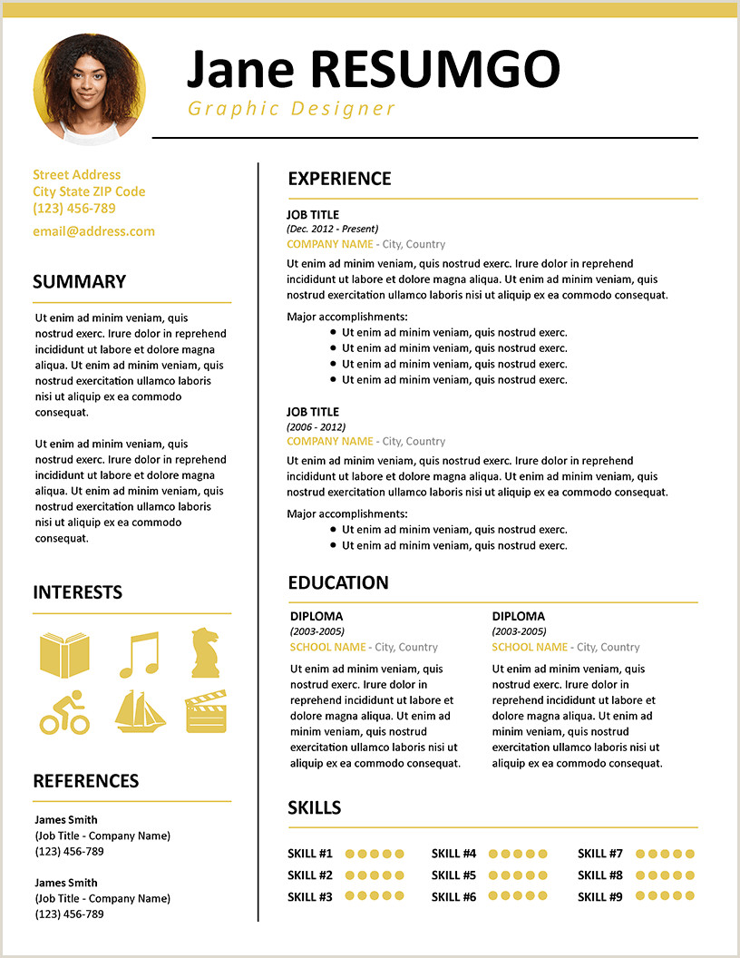 KALLIAS Contemporary Resume Template ResumGO