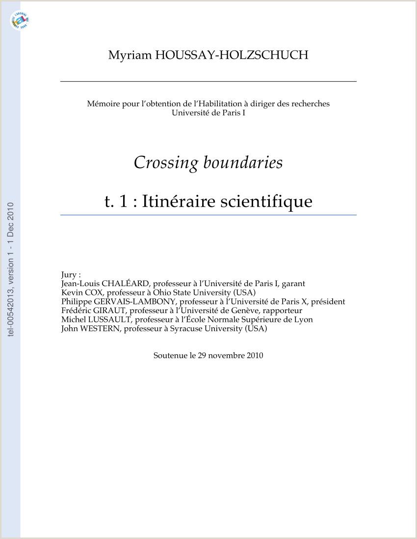 PDF Crossing boundaries – tome 1 itinéraire