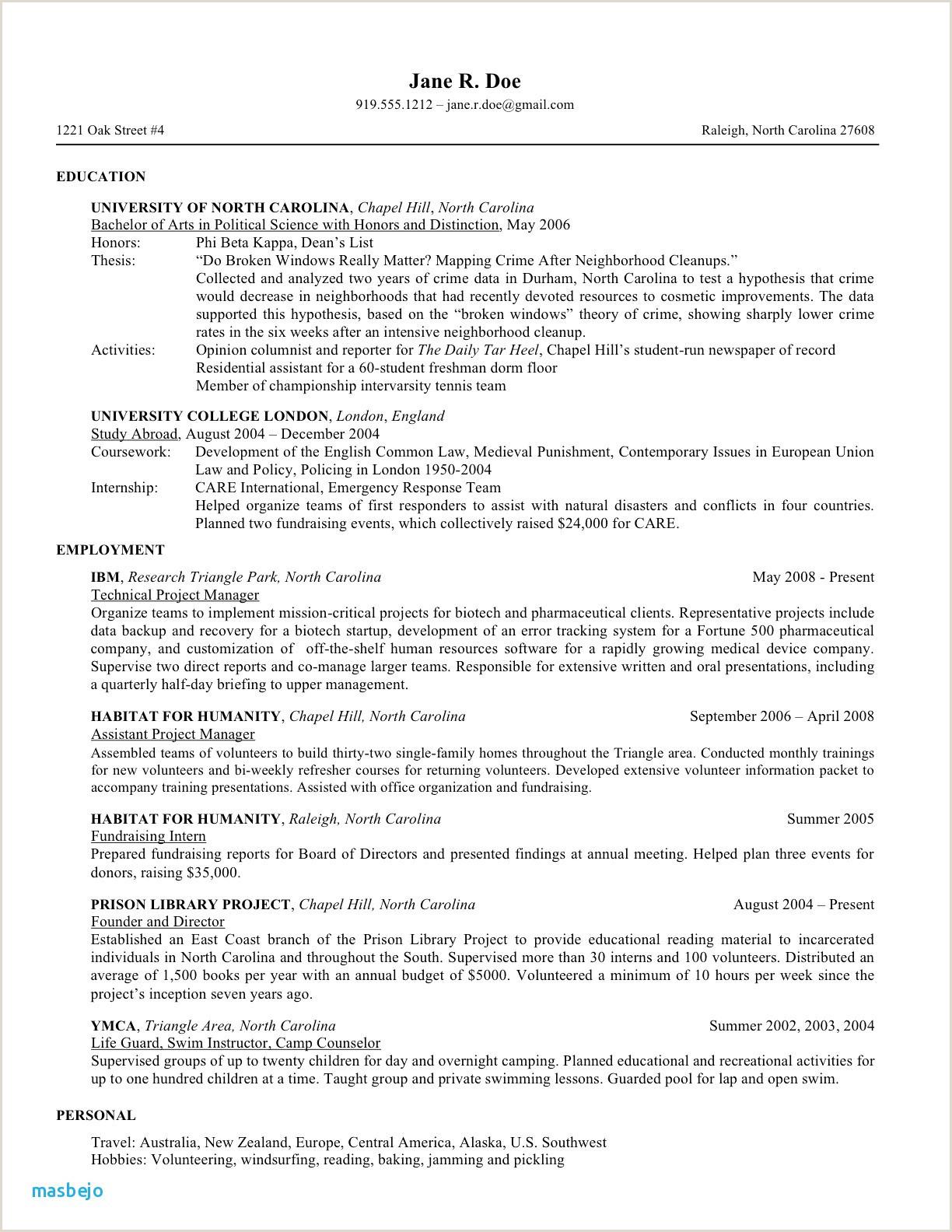 Modern Cv format Nz Elegant Sample Resume Nz