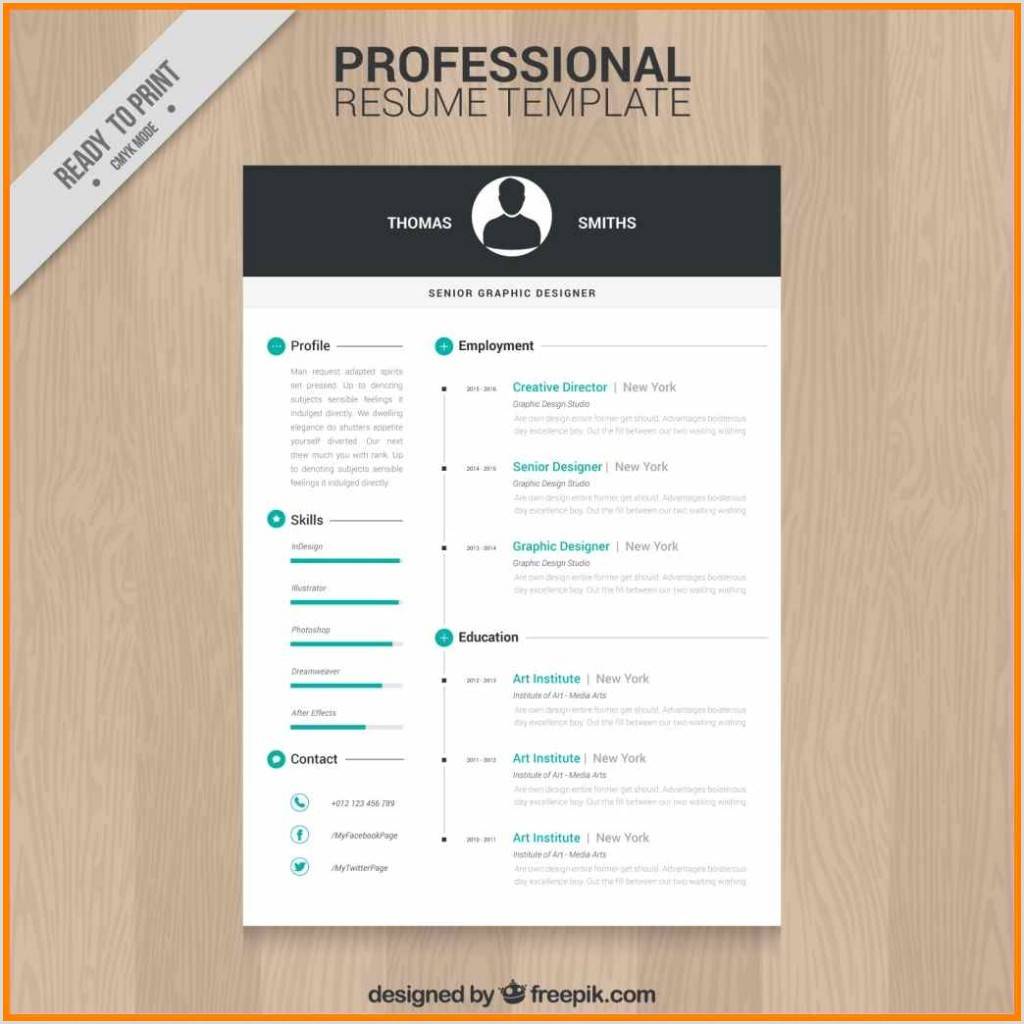 Contemporaryrofessional Resume Template Design Education