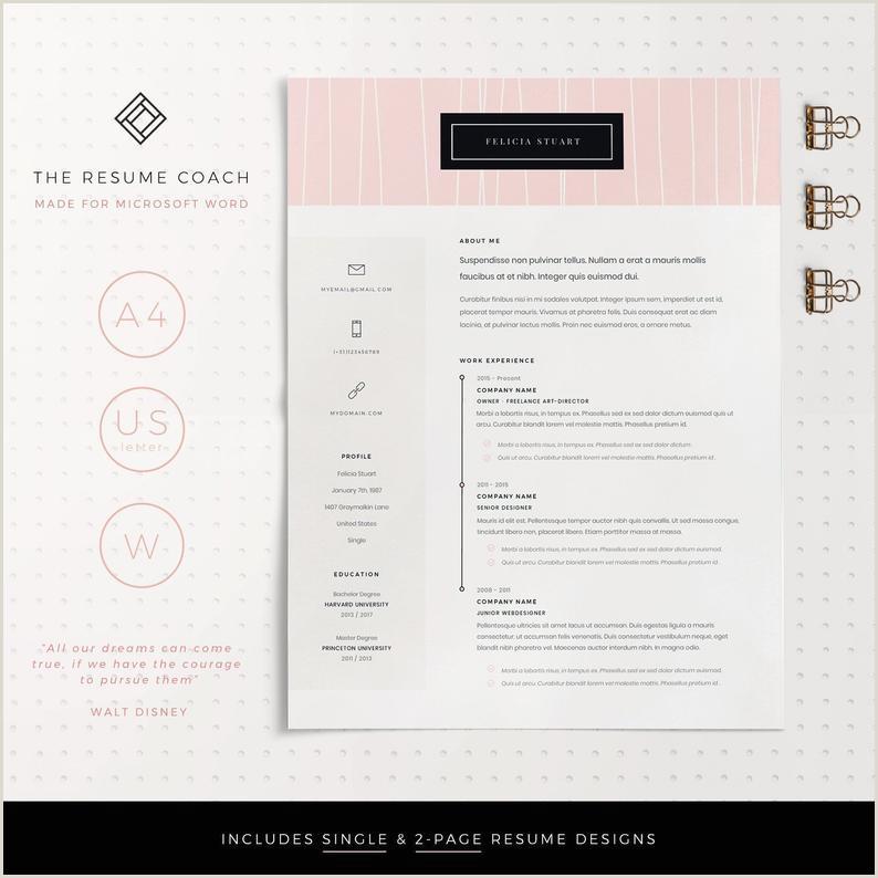 Resume Template Professional Resume CV Template Modern Resume Resume Resume Template Word Creative Resume CV