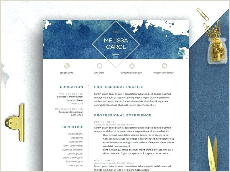 Modern Resume Template Word Templates Free Download Impress