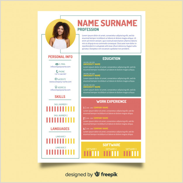 Modern Cv format Word Free Download Modern Resume Template Vector