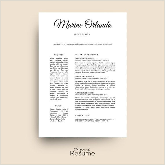 Simple Resume Template CV Design Cover Letter & Ref for