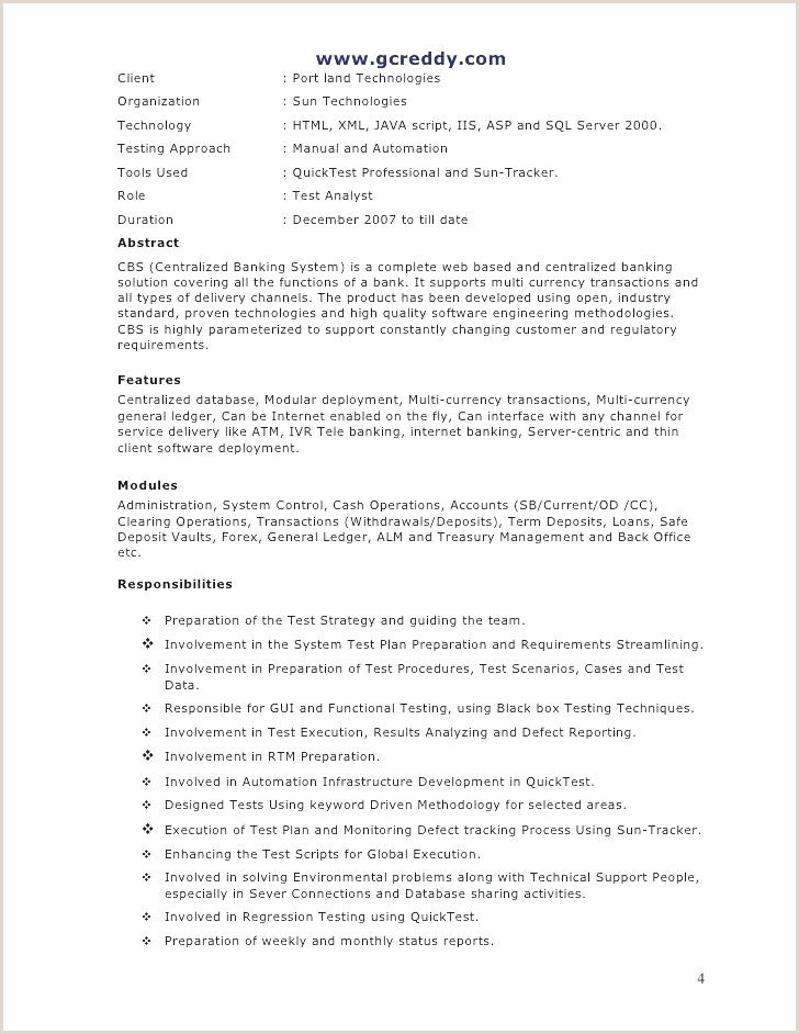 It Cv Template Technical Resume Word Plain And Simple Sample