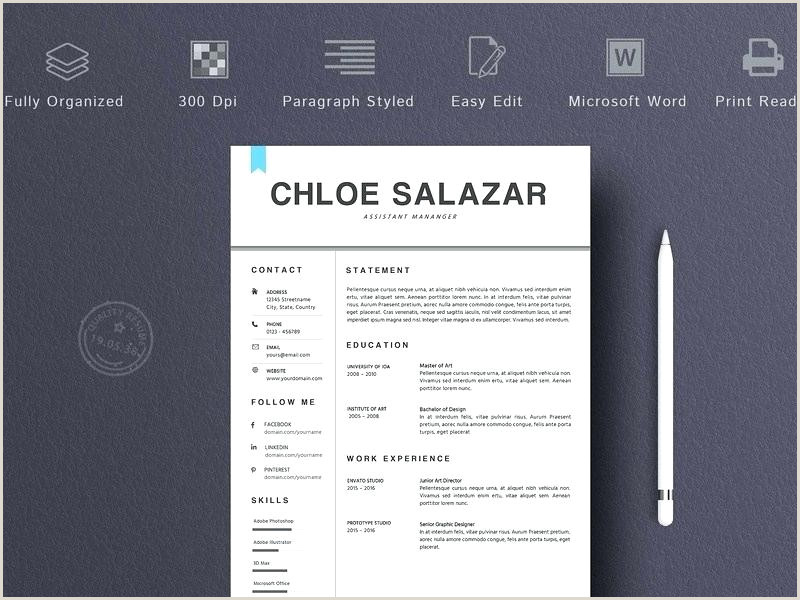 2 Pages Resume Template Word Us Letter Design Word Template