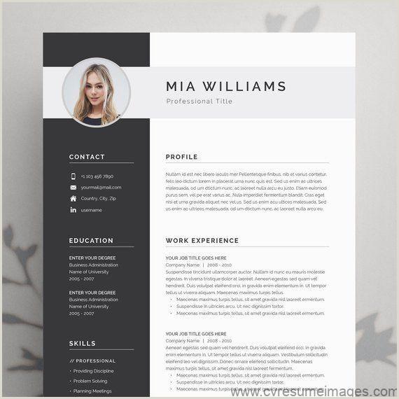 Modern Resume Template 4 page CV