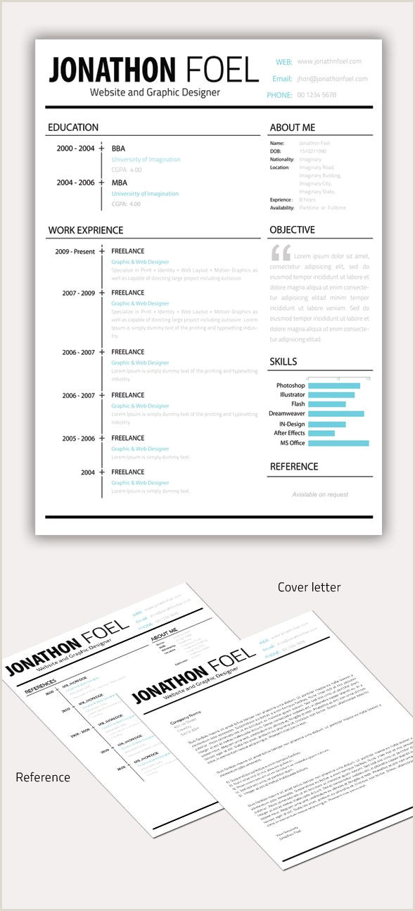 Minimal Resume CV Template designs