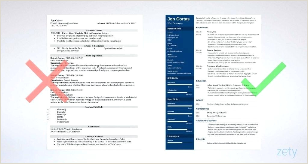 resume template modern professional