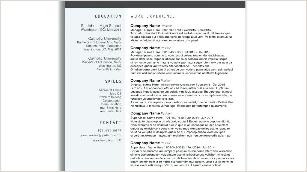 Modern Professional Cv Format Template Free Modern Resume Fresh Cv Download