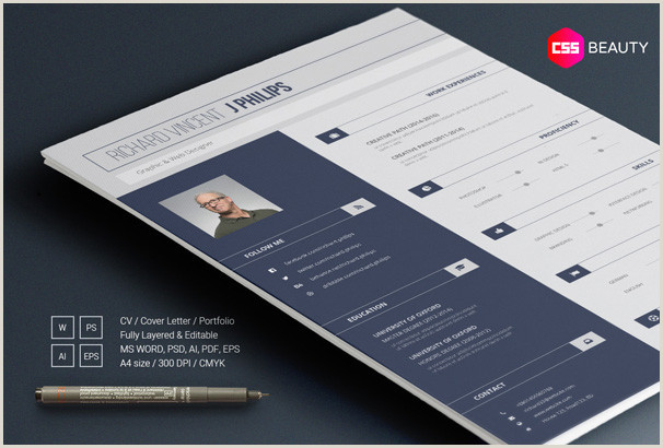 Modern Professional One Page Cv format 40 Free Resume Templates 2018 Professional & Free