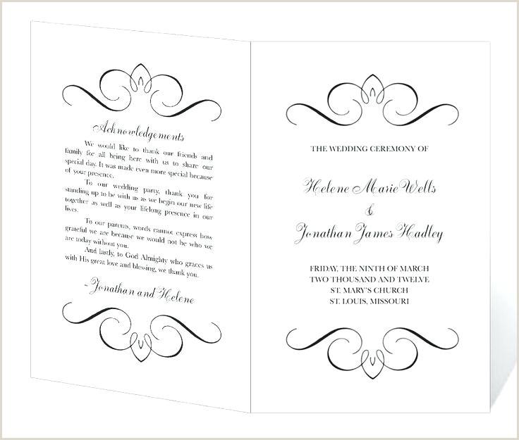 Modern Wedding Programs Free Printable Rustic Program