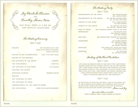 Modern Wedding Programs Wording Wedding Day Program Ideas – Ofuturodoconsumo