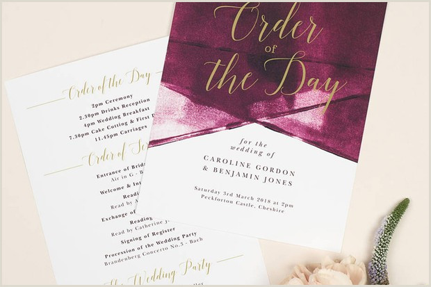 Wedding Order of Service Templates hitched